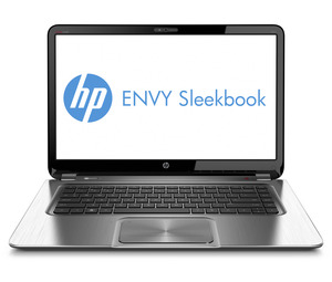 Hp envy sleekbook_frontopen_blacksilver